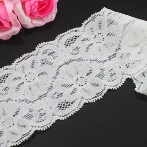 Lace trimmings, white, 5cm x 60cm, 1 piece, (LHP126)